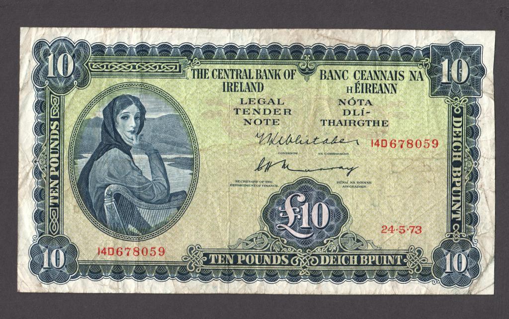 Ирландия 10 фунтов 1973 (P-66c.2) F