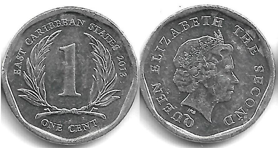 Восточные карибы 1 цент 2013