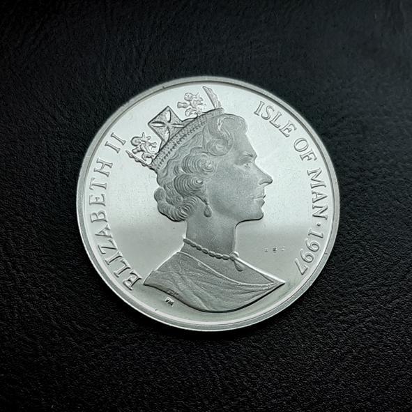 Остров МЭН 10 евро 1997 СЕРЕБРО