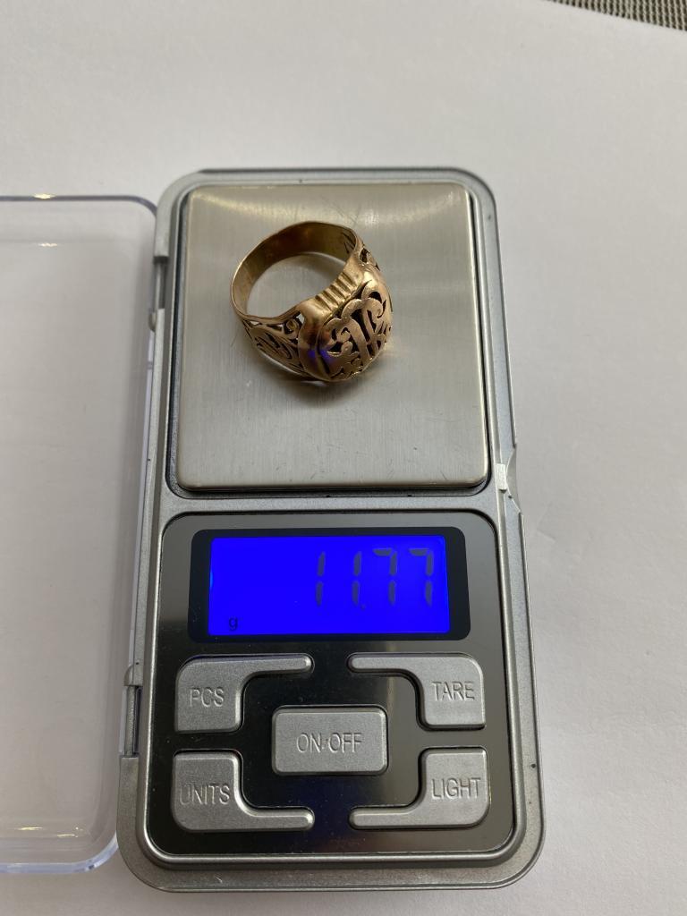 ЗОЛОТОЕ КОЛЬЦО МУЖСКОЕ 11.77 ГРАММ 585 ПРОБА!!!