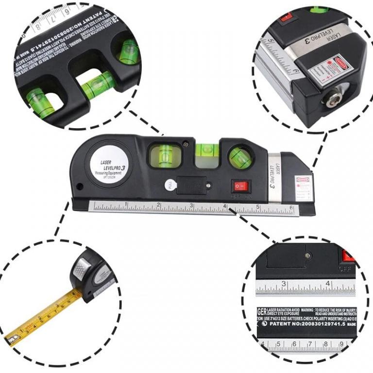 Лазерный Уровень Laser Level Pro 3 с Рулеткой.