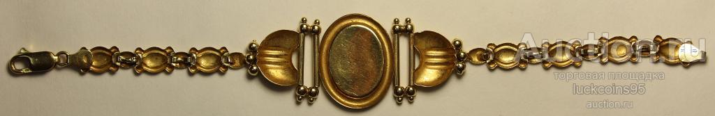 """Браслет """"Камея"""".  Золото 750 пр. Вес: 13,48 грамм."""