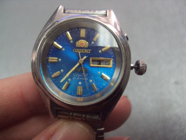 часы наручные с браслетом Orient AAA crystal 21 камней женские ориент автоподзавод не на ходу №3057