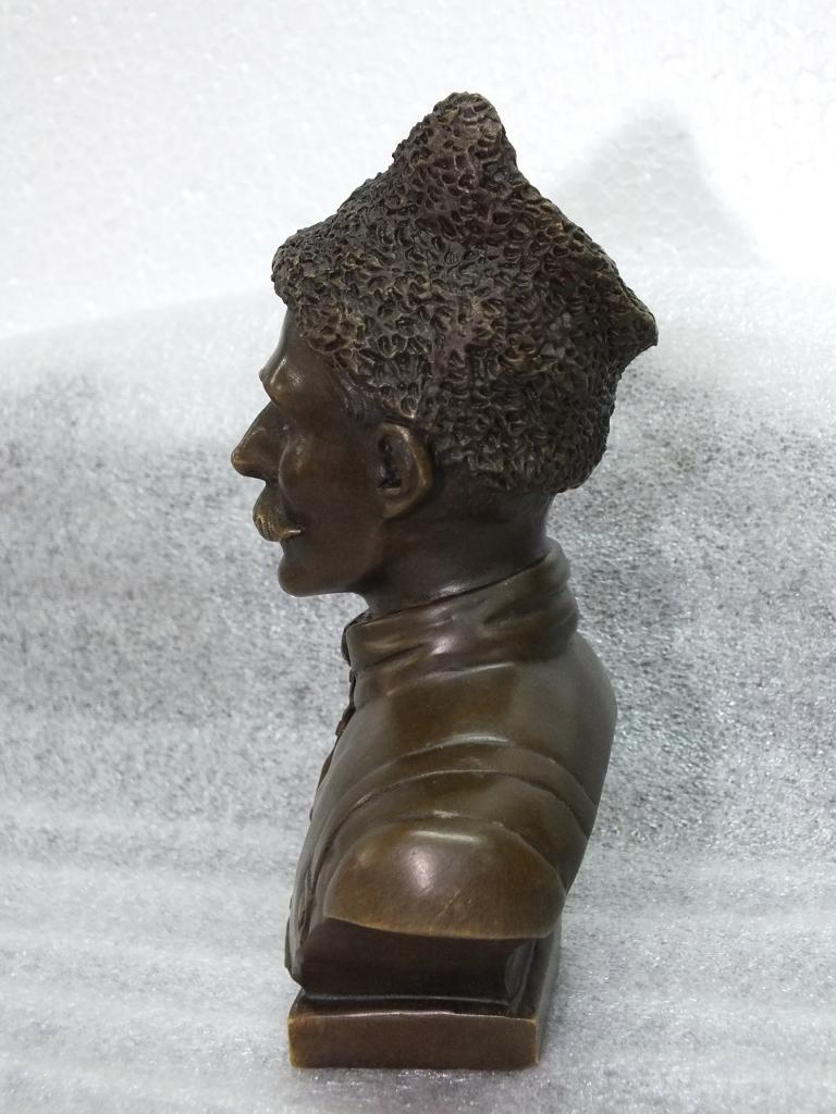 Скульптура Бюст ЧАПАЕВ Бронза Высота 16 см