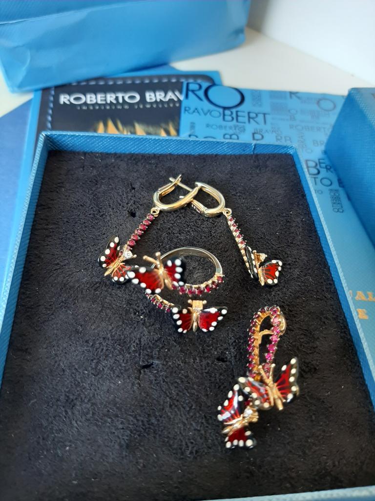 Золотой комплект Roberto Bravo 14k (585проба)