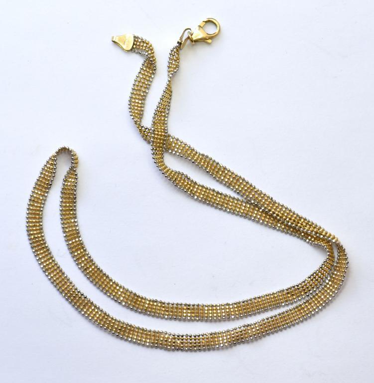 Золотая цепочка. Золото, 585 проба. Общий вес : 9.2 гр. Длина (расстегнутая) 49 см.