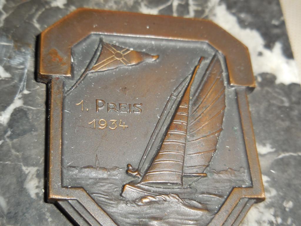 Медаль, орден, знак, фрачник, плакетка-морская регата, яхт клуб, парусный спорт,гребля (оригинал)-18