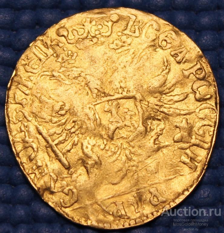 RRRRRR!!! Золотая монета Червонец 1701 года Петр I Au969, С заключением , С РУБЛЯ!