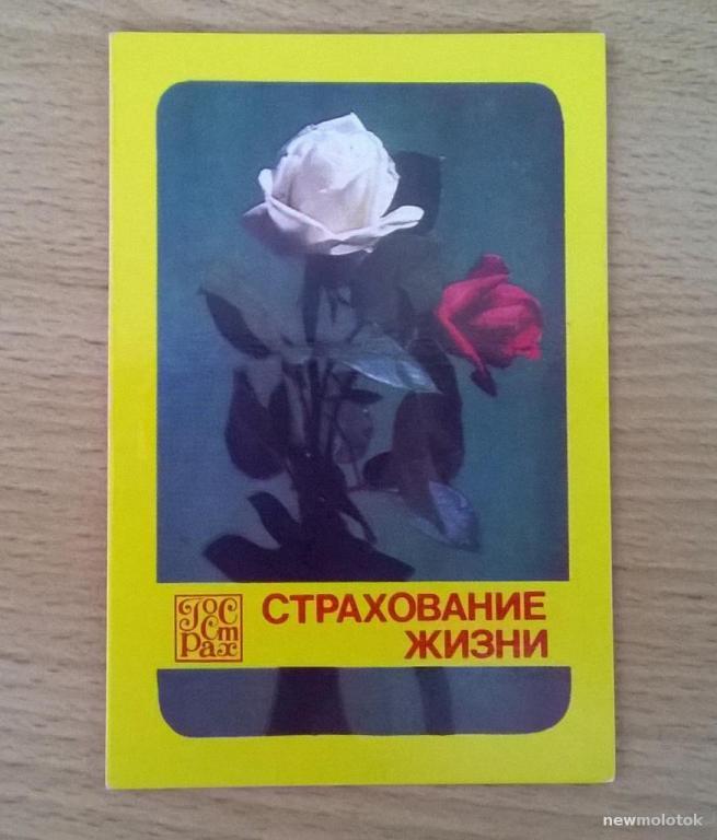 Календарь календарик карманный Страхование жизни Госстрах 1982 г. СССР