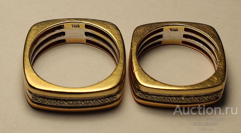 Золотые кольца (Тринити). Золото 750 пробы (Розовое,белое,желтое). Вставка:Бриллианты. Вес: 19.14 г.