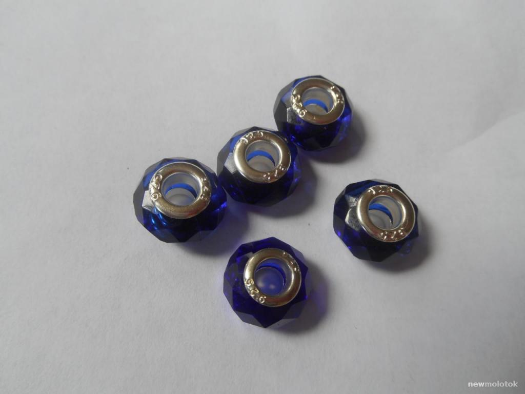 Синие шармы для браслетов