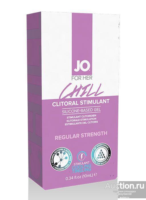 System JO Возбуждающий гель мягкого действия JO CLITORAL CHILL - 10 мл.