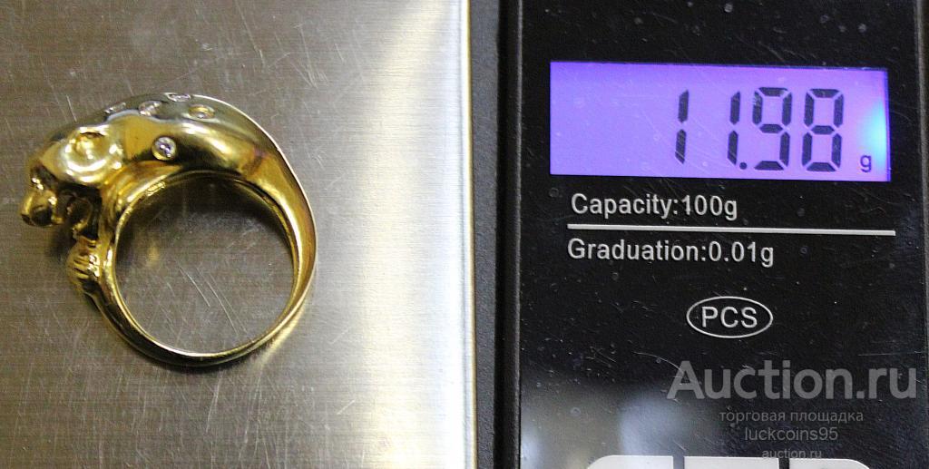 Золотое женское кольцо. Золото 750 пробы - 11.98 грамм. Вставка: Бриллианты и Фианит.