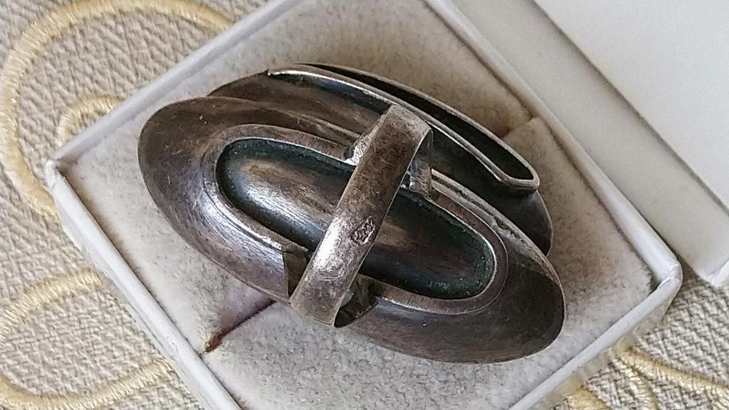 Крупный перстень кольцо агат серебро 925 СССР винтаж
