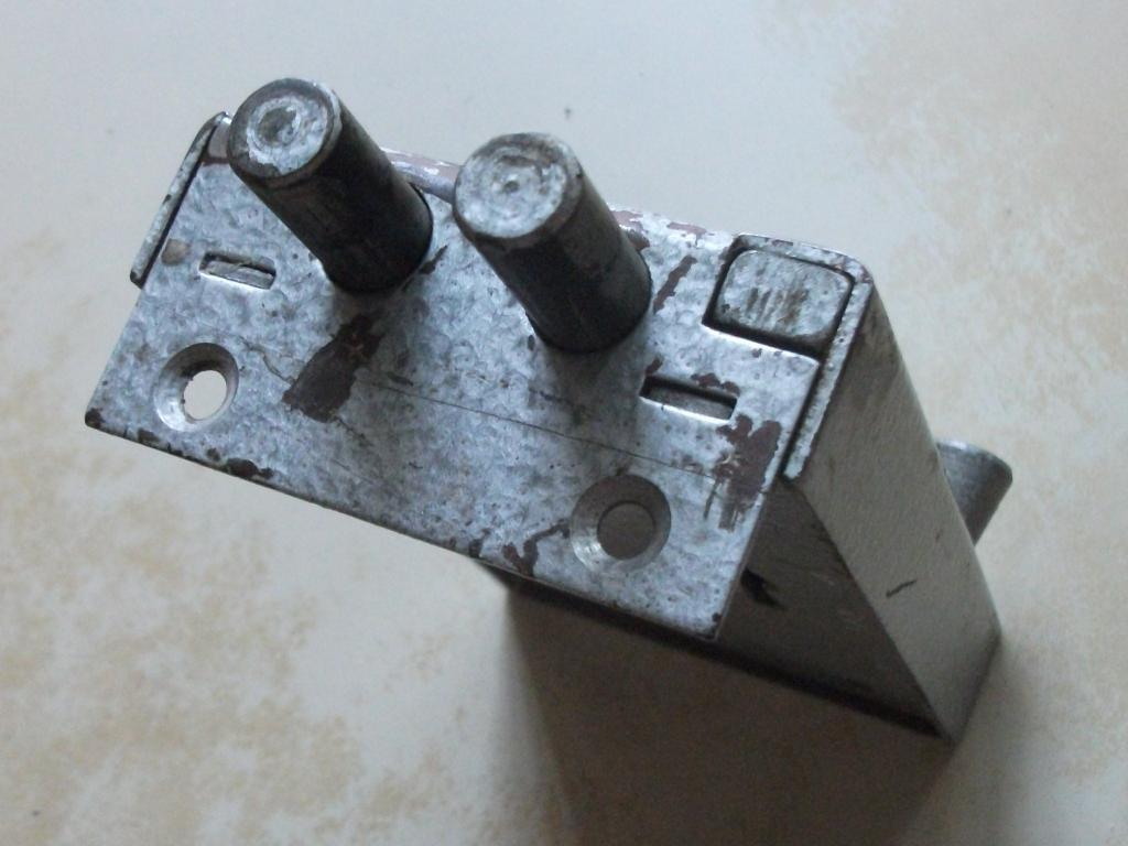 Замок накладной дверной два засова три ключа винтаж металлоизделия СССР б/у
