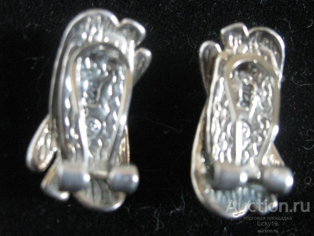 Клипсы  (серьги), серебро  925 проба  8,4 грамм.  СССР