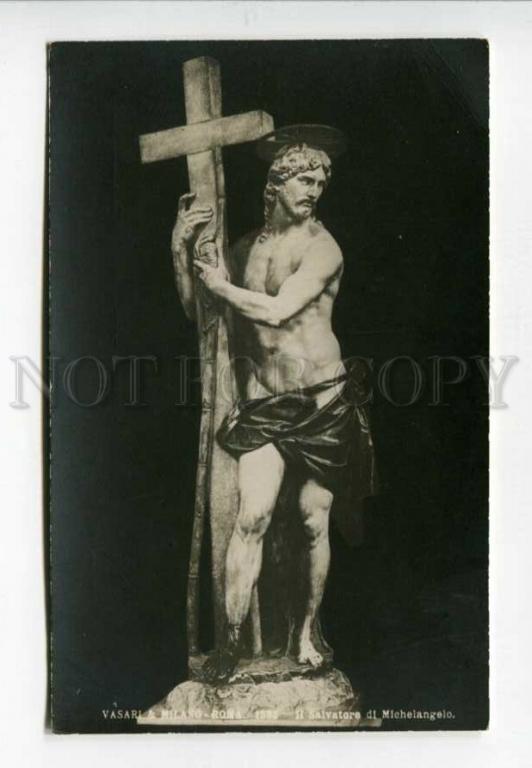 3157766 ЖИВОПИСЬ Savior ИИСУС MICHELANGELO