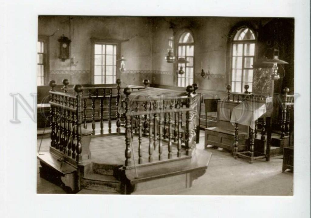 3114528 ВИДЫ ГОРОДОВ Латвия RIEBINI Новый дом СИНАГОГА Еврейская