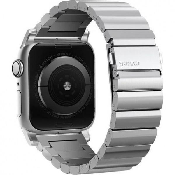 Ремешок Nomad Steel Band для Apple Watch 44mm/42mm.  Материал сталь. Цвет серебристый.
