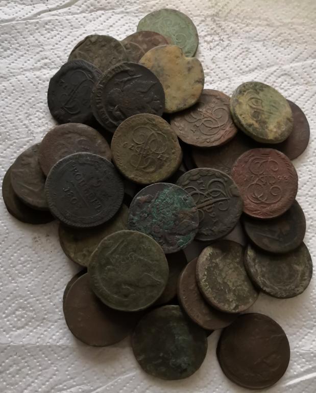 Пятаки от Елизаветы до Александра I  1759-1803  220 шт оптовый лот