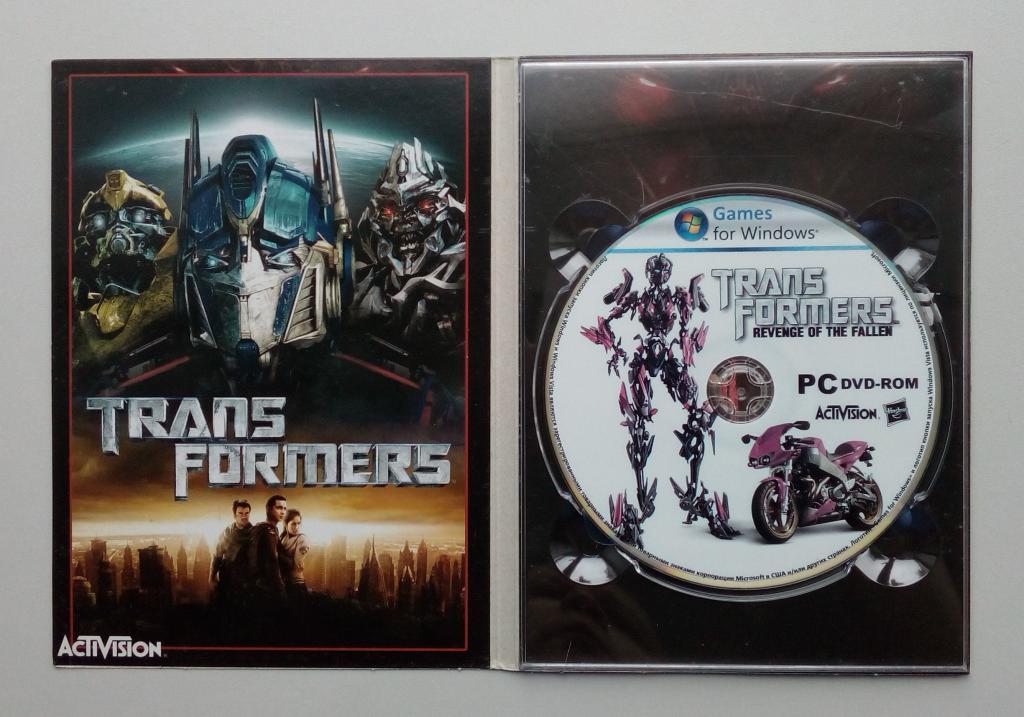 Transformers: Revenge Of The Fallen/Unofficial/DVD-ROM/PC/ПК/Digipak/Digipack/диджипак/распечатан