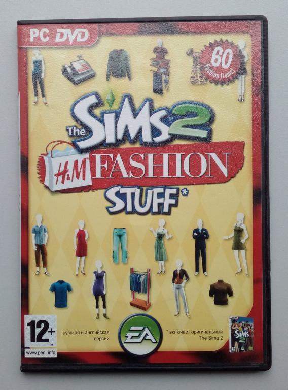 The Sims 2+The Sims 2 H&M Fashion Stuff/Unofficial/DVD-ROM/PC/ПК/распечатан