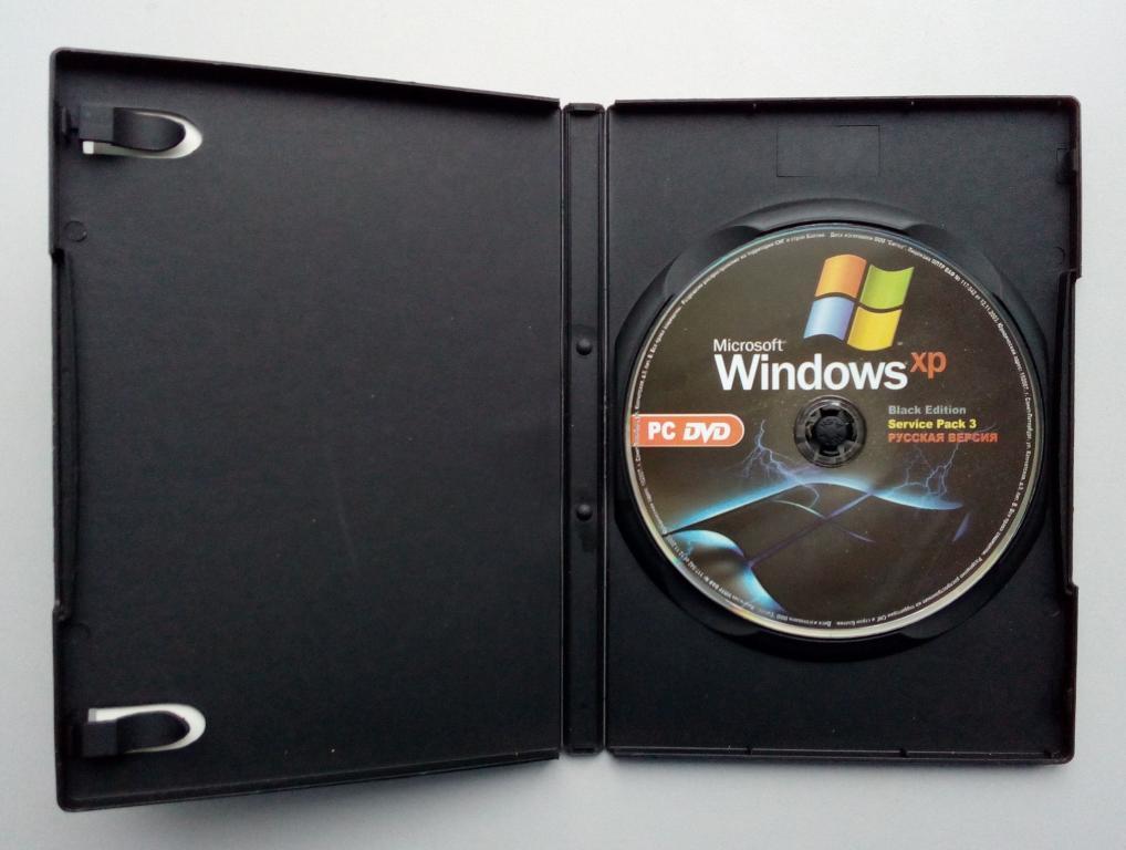 Windows XP SP3 Black Edition/Unofficial/DVD-ROM/PC/ПК/Soft/Софт/распечатан