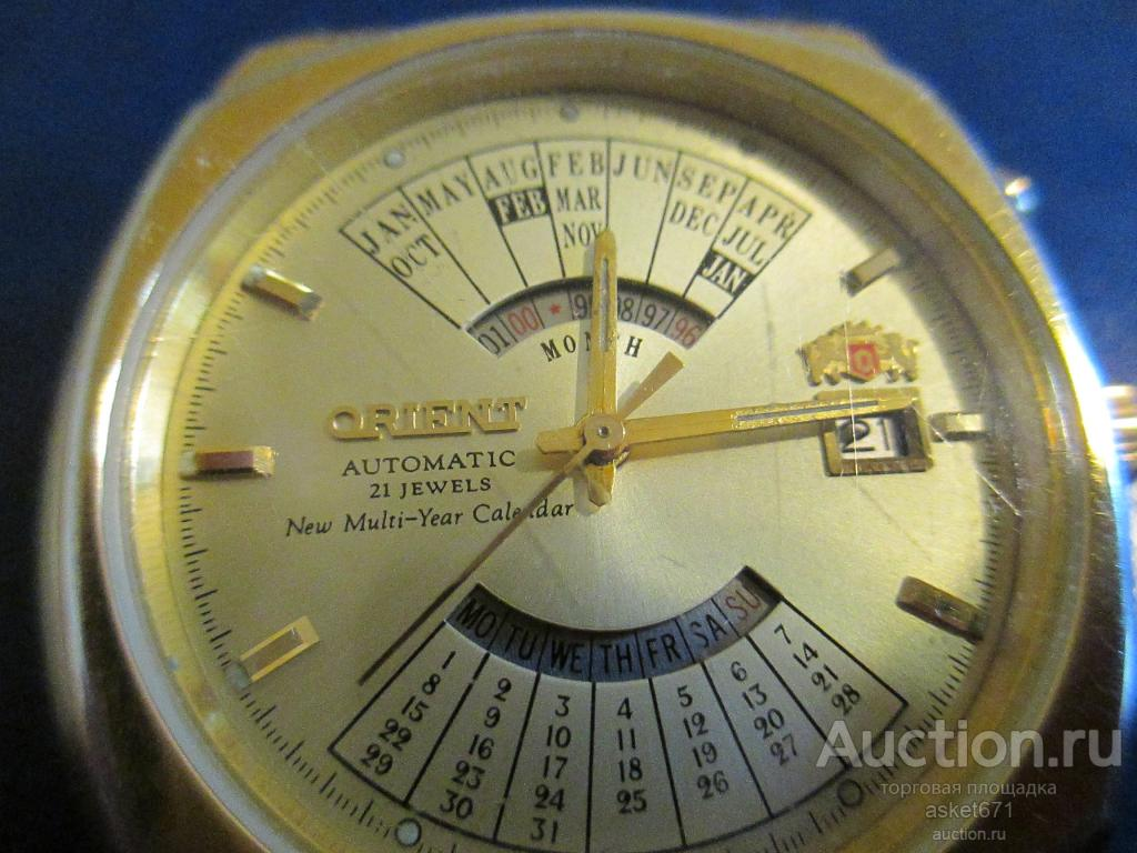Часы ORIENT-КОЛЕДЖ, модель-46D902-90 CA желтый корпус и браслет. Отличные!!!автоподзавод!!!