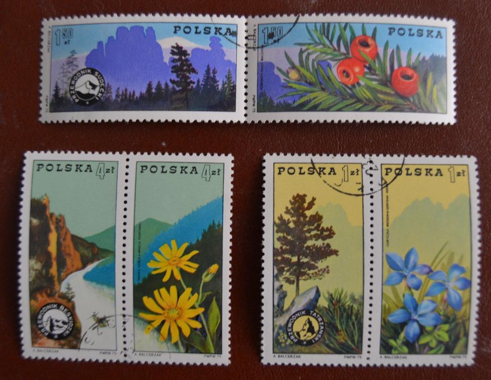 Польша 1975 г. Флора Горы Цветы Альпинизм Серия 6 м. СТО