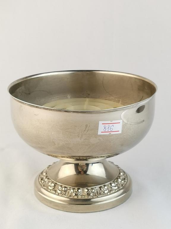 886 ВАЗА ПОД МАЛЫЙ БУКЕТ РОУЗБОЛ серебрение ! рисунок интерьер камин декор кухня коллекция Англия 80
