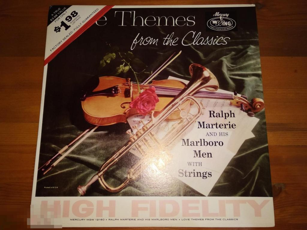 Ralph Marterie And His Marlboro Men With Strings - Love Themes From The Classics / LP / US / EX/ЕХ