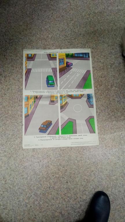 Ерыкалов Н.С., Плакат. Правила дорожного движения. Виды перекрестков и их разметка Учебно-наглядное…