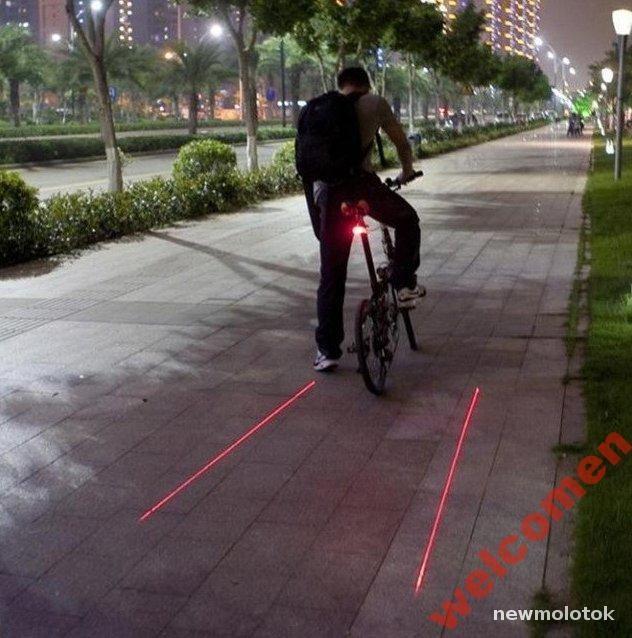 Лазерный задний фонарь Bicicleta  для велосипеда