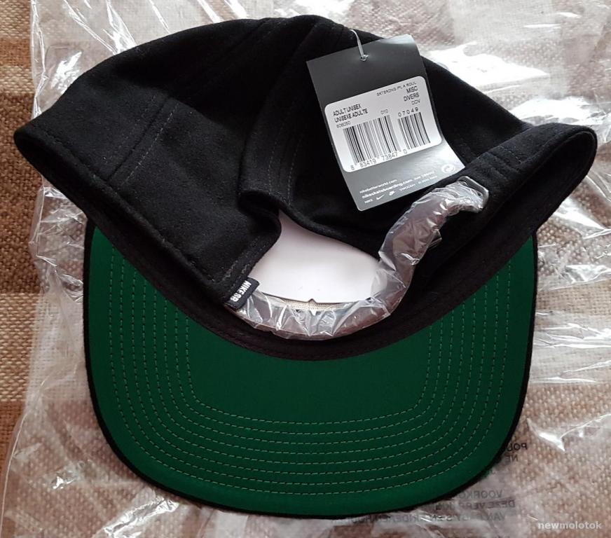 Бейсболка Nike из США черная теплая - сзади кожаная шлейка новая фирменная