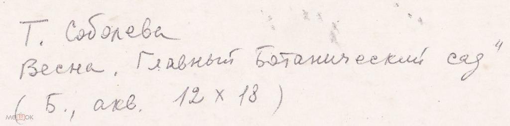 Соболева Т.Н. Весна (акварель бумага) 17на12(а453)