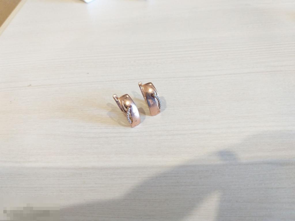 Красивые серьги серебро 925 проба ПОЗОЛОТА