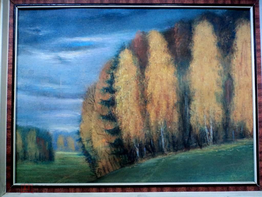 Ларин А.В Осень (пастель бум.картон) 36на27(к838)