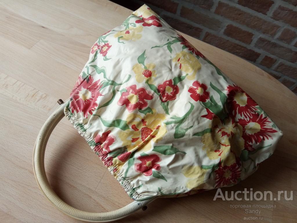 Летняя стильная дамская сумка из 60-х годов