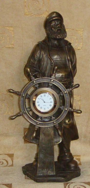 Часы КАПИТАН из бронзы