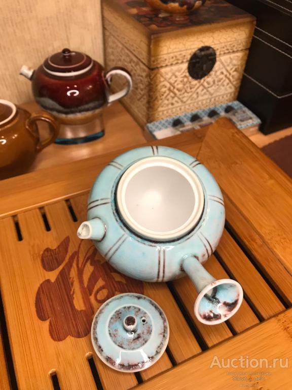 № 1. Фарфоровый чайник из города Цзиндэчжэнь. Китай. Эксклюзив. Технология 2000-летней давности.