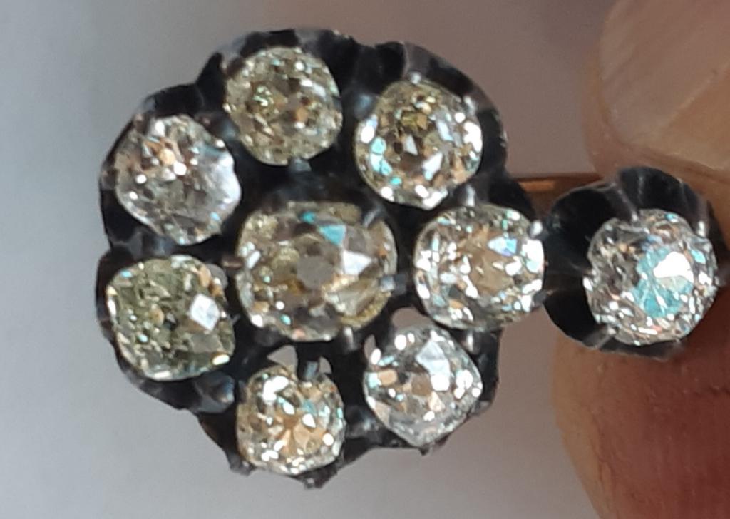 Серьги с бриллиантами 56 проба