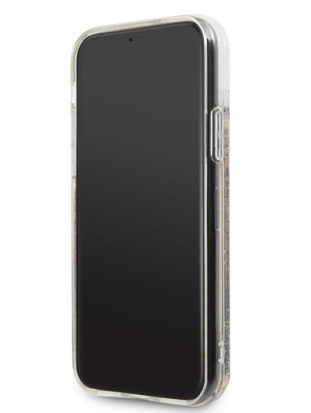 Чехол-накладка для iPhone 11 Pro Guess Liquid Glitter Hard Hearts, Gold (GUHCN58GLHFLGO)