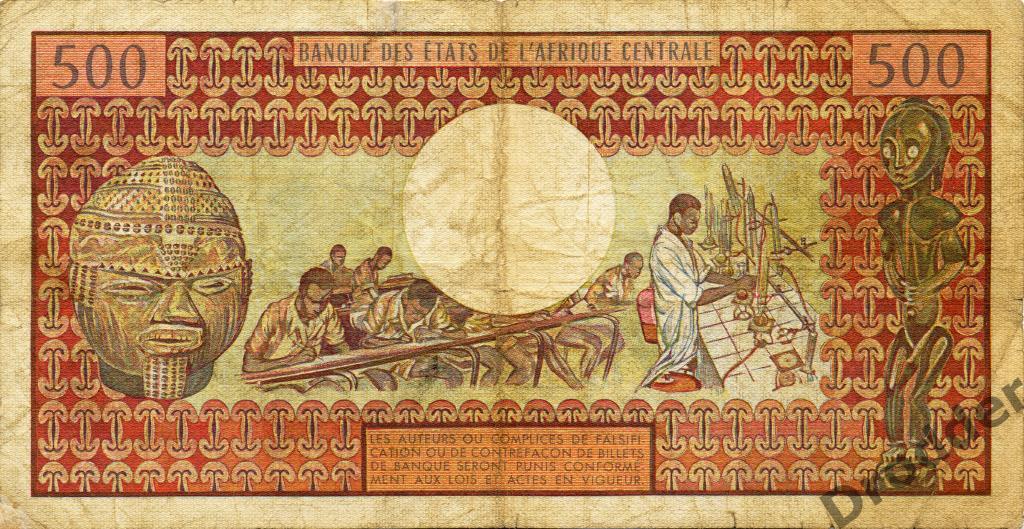 Центральная Африка. Чад. 500 франков. 1978.