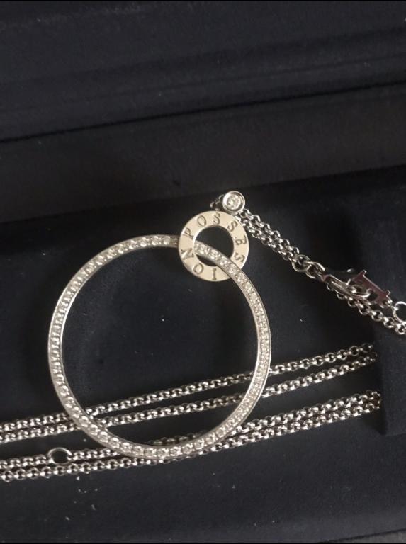 Абсолютно новая Подвеска Possession из белого золота 18 карат с 58 бриллиантами круглой огранки (око