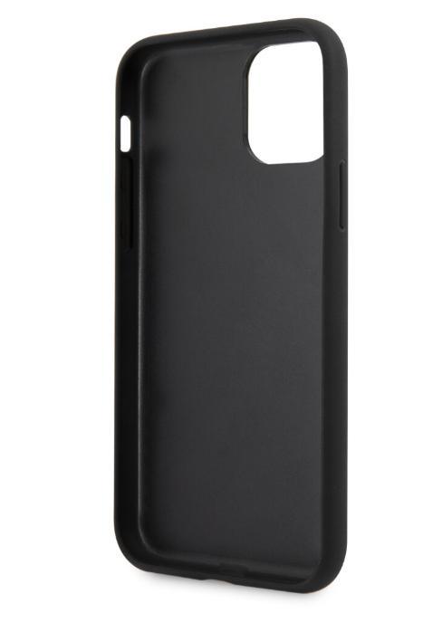 Чехол-накладка для iPhone 11 Pro Guess Animal Lizard with metal logo Hard PU, Black (GUHCN58PCUMLLI