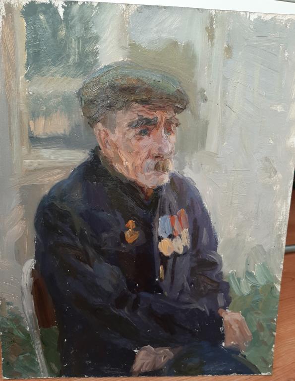 Портрет ветерана, 50х40 см.