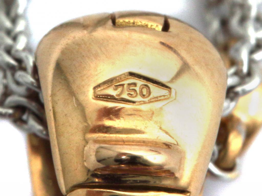 Золотая подвеска на цепочке с бриллиантами и аметистами. Sartoro.