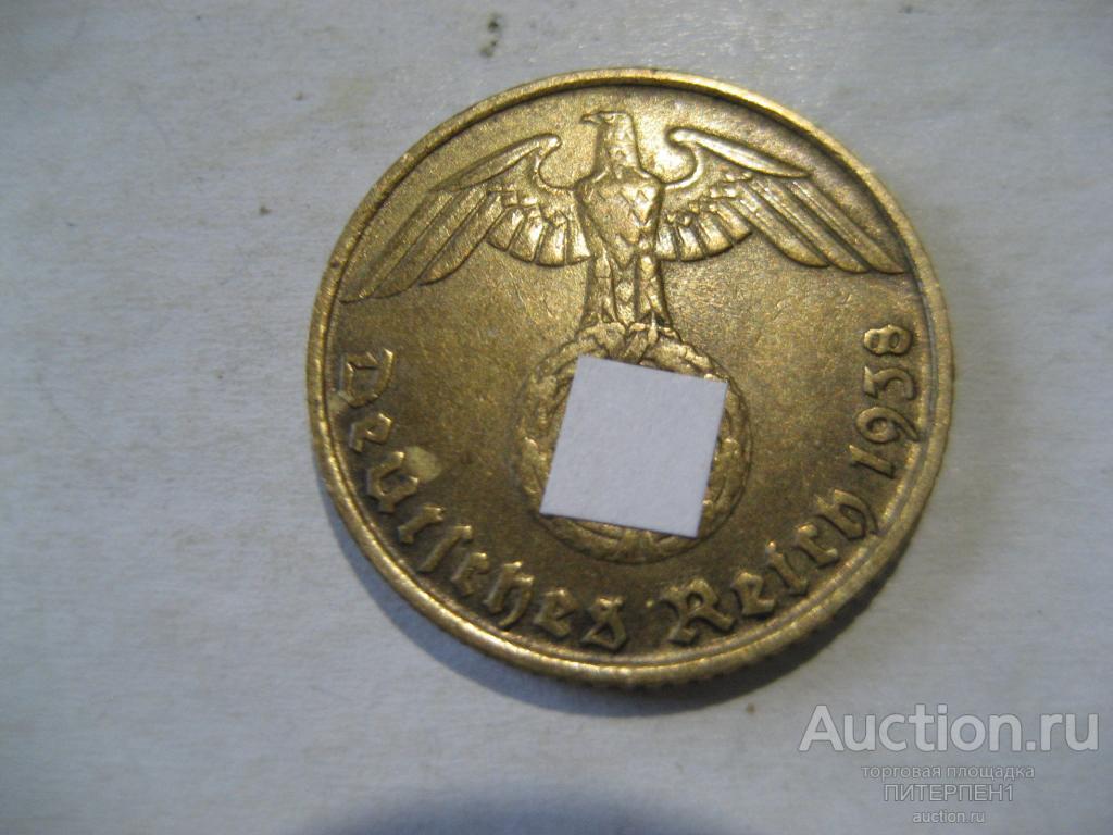 Монеты. Германия. Третий Рейх. 5 пфеннигов 1938 D. Отличное состояние.