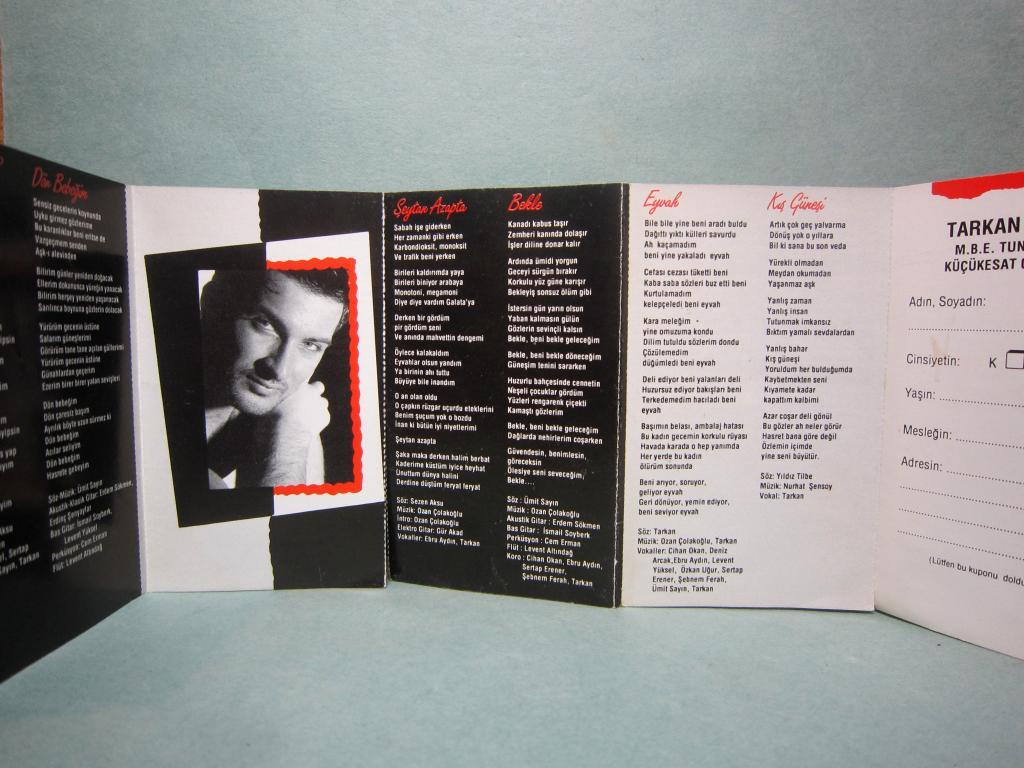 Аудио кассета TARKAN Aacayipsin Фирменная Турция Оригинал голограмма вкладыш 14 страниц цена дешево