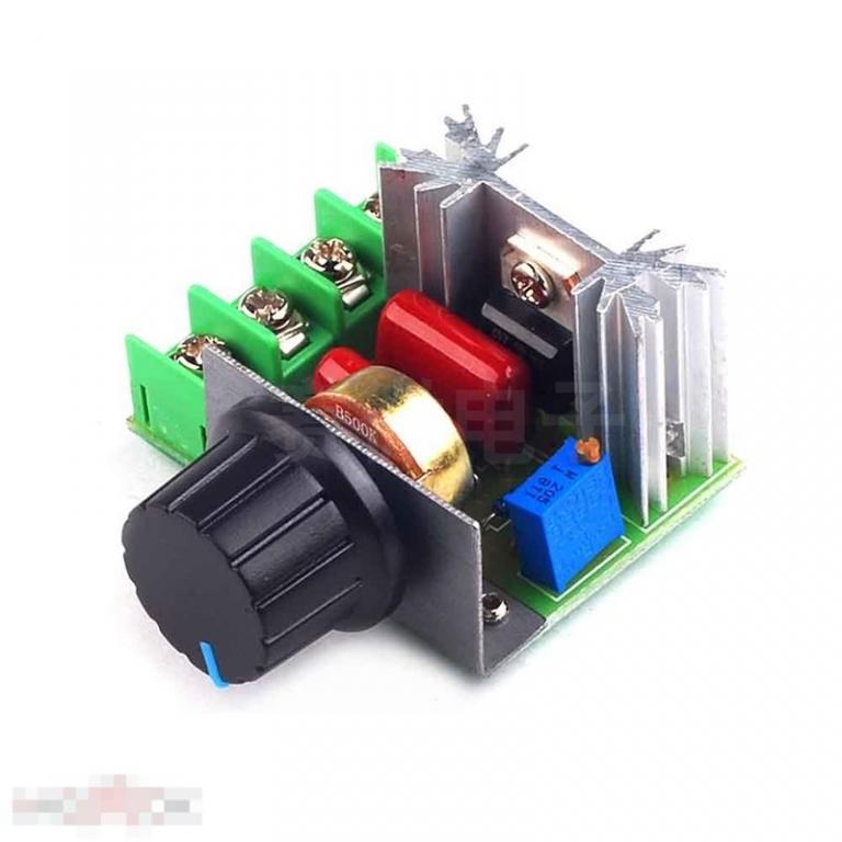 Тиристорный регулятор мощности 2000 Вт 220В Выходное напряжение 50-220В